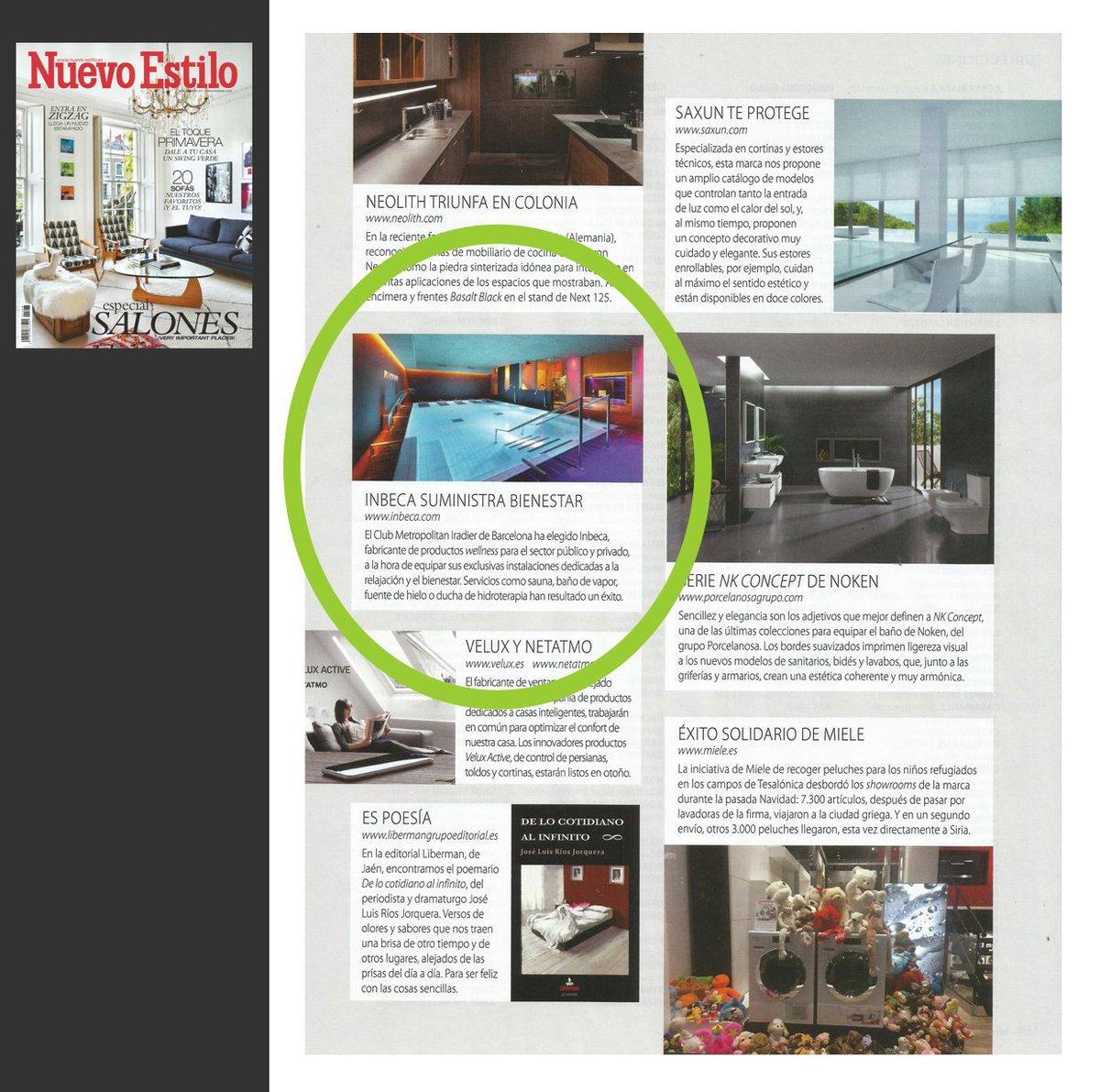 Inbeca Wellness On Twitter Estamos En La Revista Nuevo Estilo  ~ Aplicaciones De Diseño De Interiores