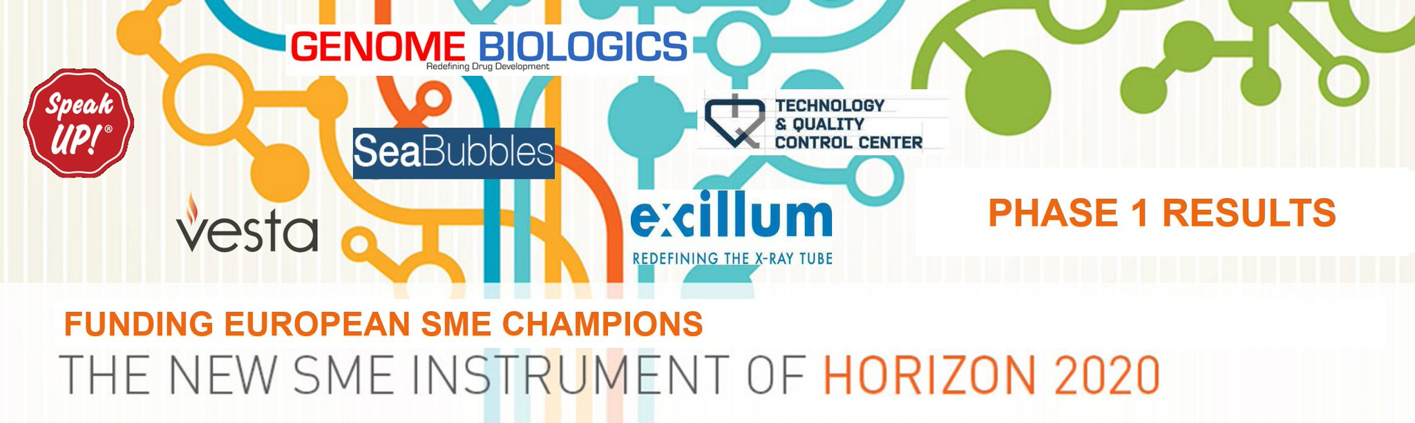 Congratulations to our 6 customers awarded #H2020 #SMEInstrument phase 1 funding today! https://t.co/5lXPhrkwGv