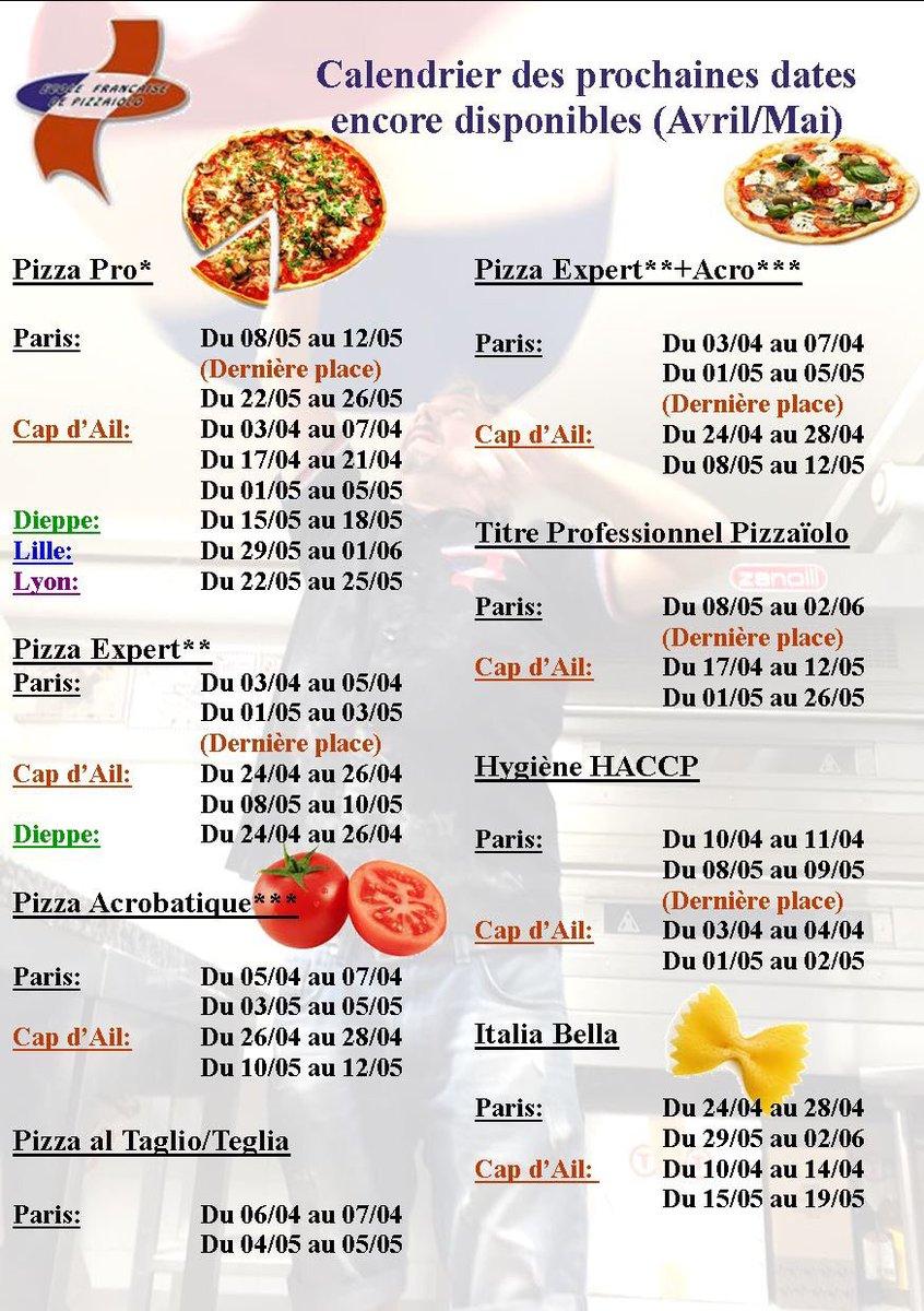 ecole f de pizzaïolo (@efpizza)   twitter - Formation Cuisine Lyon