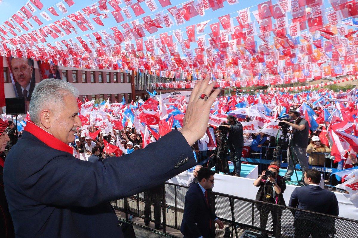 Başbakan Yıldırım, Edirne mitinginde vatandaşlarımıza hitap etti. #Edi...