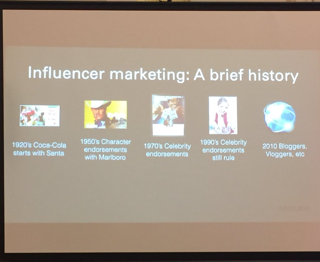 Influencers aren't just celebs, bloggers, etc. The original influencer was a character! @CocaCola & Santa! #OiConf https://t.co/H5fE4DhdwA
