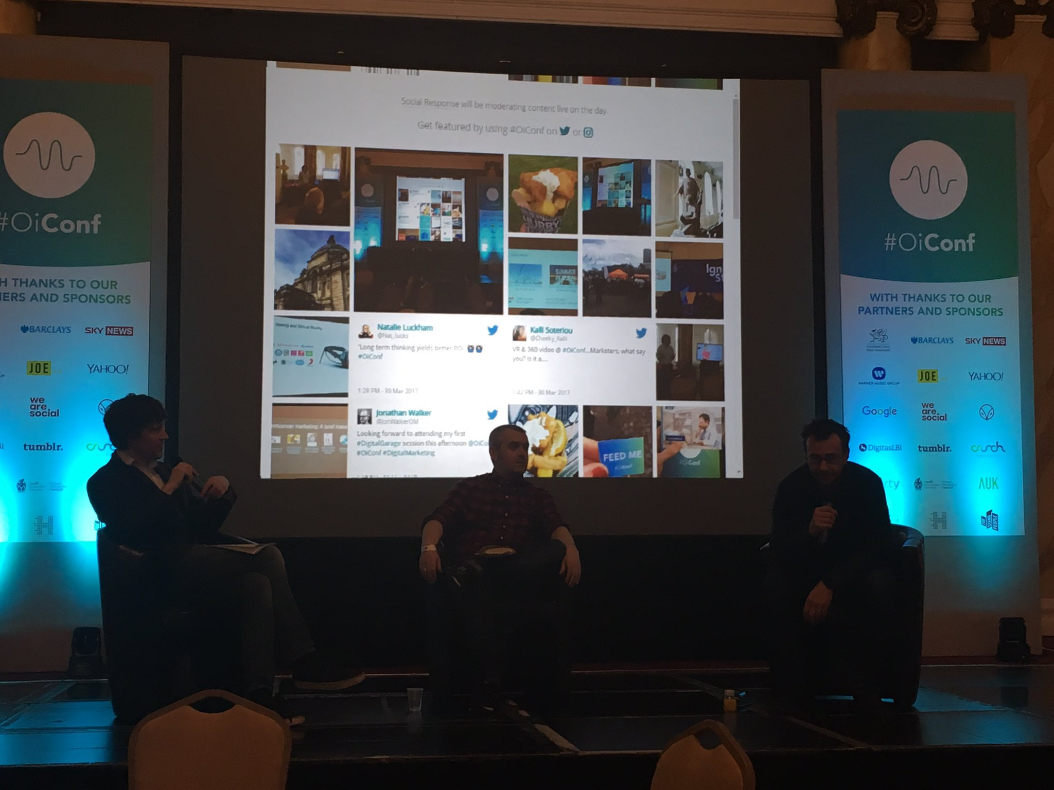 At the panel for #Fashion, #music and #digital disruption with Josh Saunders, David Hieatt and Martin Bryant #OiConf https://t.co/5o0cQvZZiO