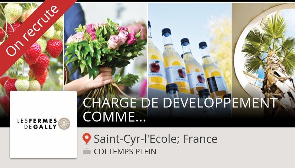 RT Gall : #CHARGE DE DEVELOPPEMENT #COMMERCIAL (H/F) #SaintCyrlEcoleFrance chez #LesFermesDeGally #job … https://t.co/YSE5qgykcP