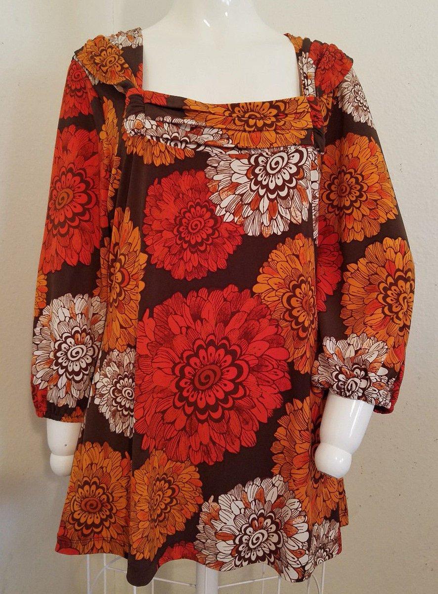 #eBay #Auction #Womens #Fashion #Shopping Medium #Autumn #Floral #Square Neckline #Boho #Hippie #Peasant #Tunic  |  http:// ow.ly/7Cyo30apniS  &nbsp;  <br>http://pic.twitter.com/3wxd966Mnw