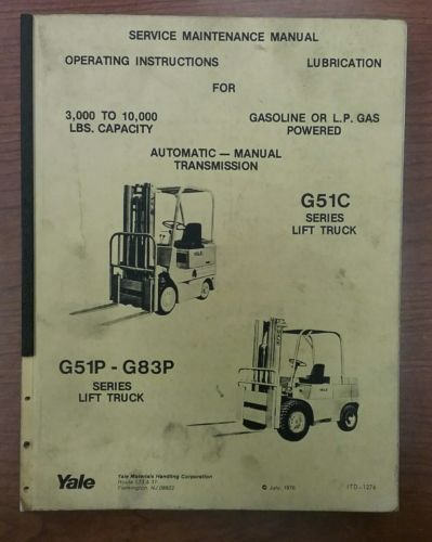 Yale g83p Manual