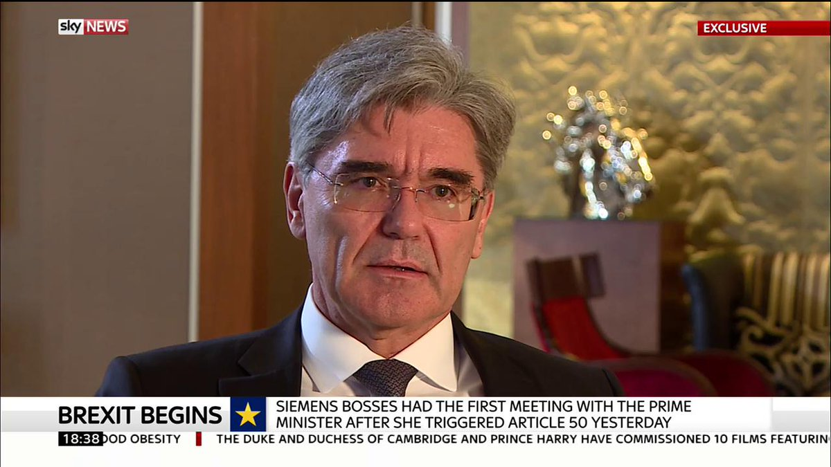 Joe Kaeser global CEO @Siemens outlines the industrial giant's commitment to the UK in the wake of the Brexit https://t.co/s9N575hOL8
