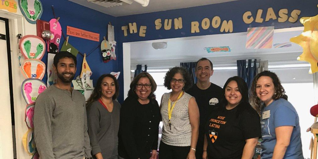 #PrincetonU alumni complete community service project at Princeton Nursery School. #AdelantePrinceton https://t.co/CYjf4J5DLv