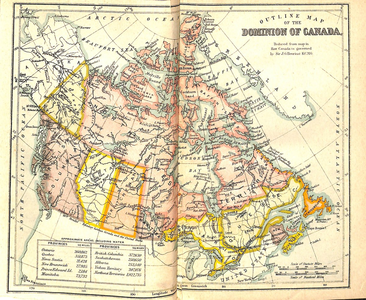 Map Of Canada 1905.Oise Library On Twitter From The Historical Collection This Map