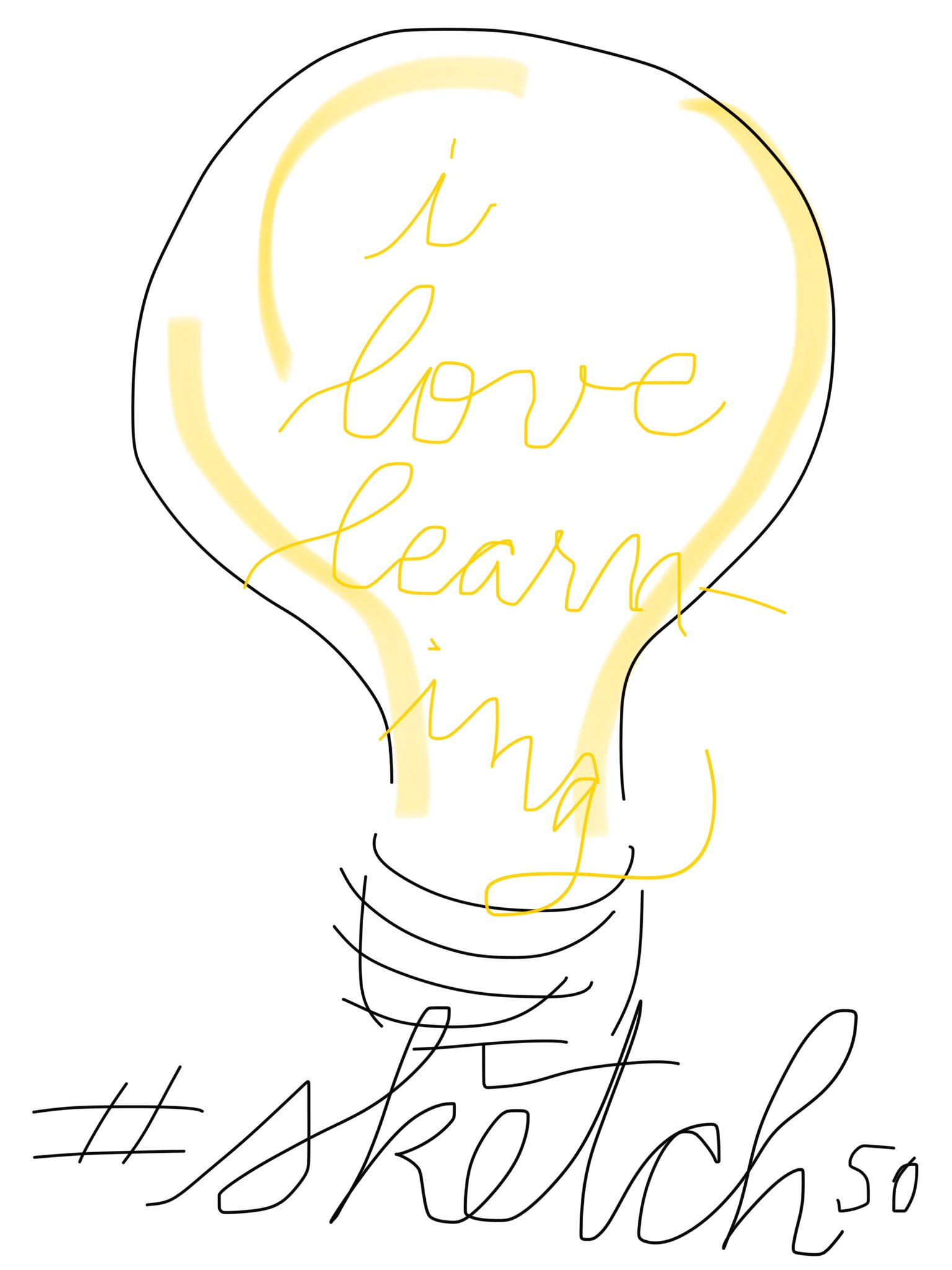 Day 1: lightbulb! #sketch50 https://t.co/R7wAqUkzud