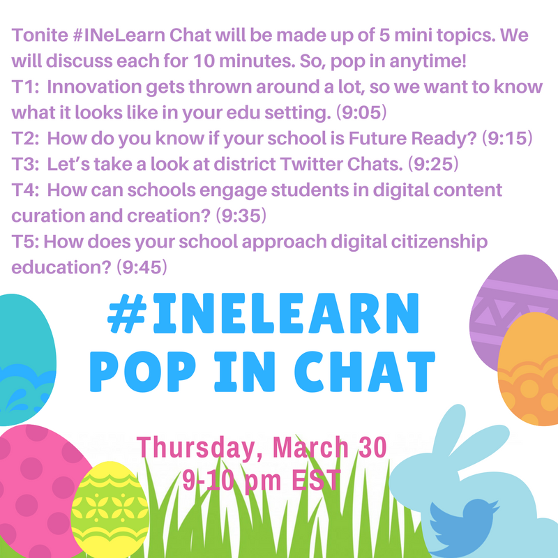 Thumbnail for #INeLearn Chat 3/30/17