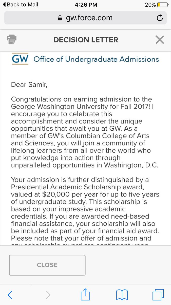 gw admissions gwadmissions twitter i got accepted to the george washington university as a presidential academic scholar i got in the p v program too gw2021 gwadmissionspic com
