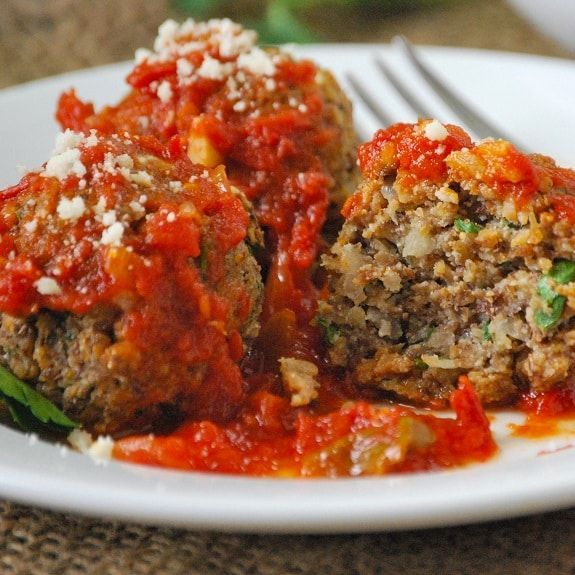 Pressure Cooker Cheesy Beef Meatballs in Tomato Basil Sauce