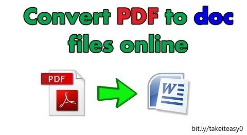 How to Convert PDF to DOC files Online