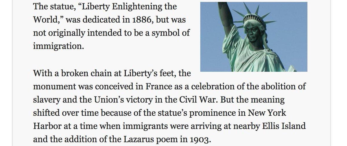 Steve Sailer En Twitter Retconning Statue Of Liberty Into