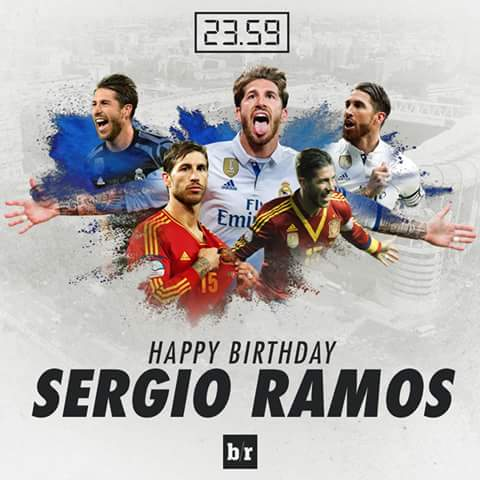 HAPPY Birthday Sergio Ramos  The Real Madrid squad surprised Sergio Ramos on his 31ts birthday with a