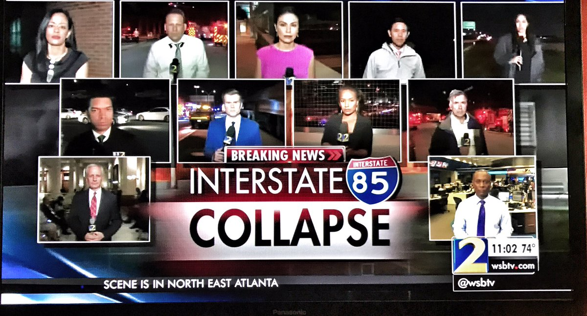 Wow! @wsbtv has quite the team (11 reporters) coverage on