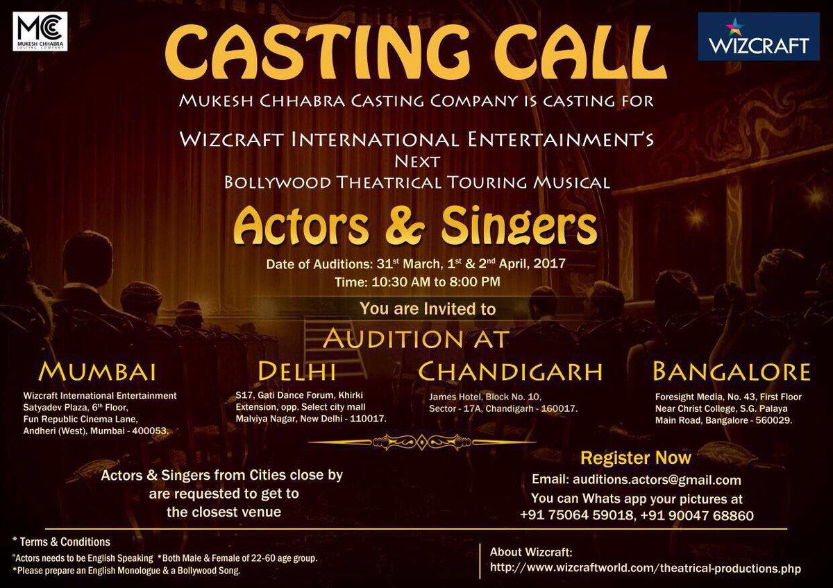 Mukesh Chhabra CSA On Twitter Actors In Bangalore Delhi Chandigarh And Mumbai Go Now Pls Rt