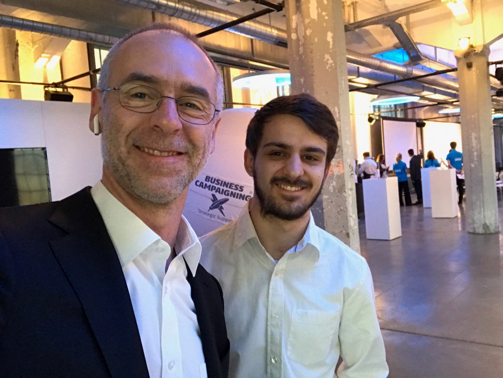 For the first time with my son Daniel (our code writer) at the Campaigning Summit Switzerland #CSCH17 https://t.co/cXbBDqrfCo