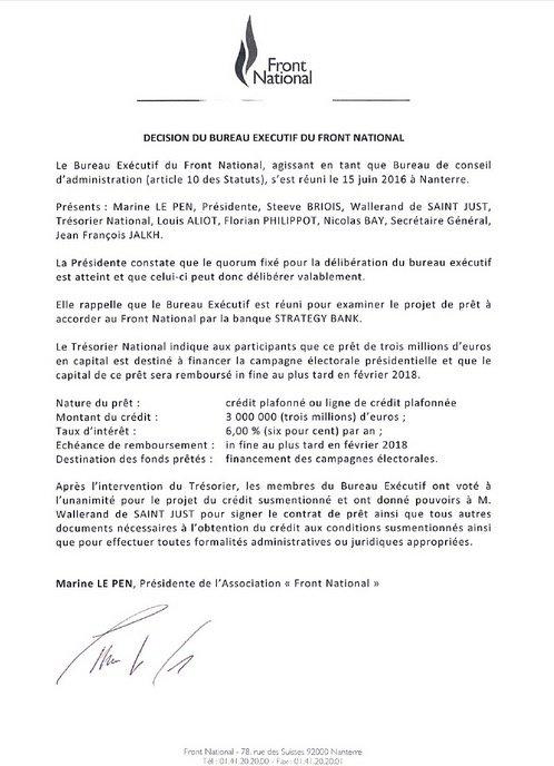 Mediapart On Twitter Marine Le Pen Signe A Nouveau Pour De L