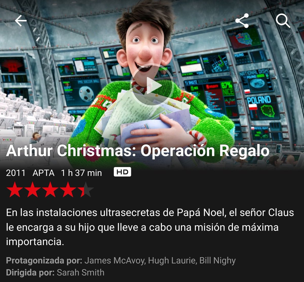 Gallo De Netflix On Twitter 31 3 17 Arthur Christmas Operacion Regalo 2011 Https T Co Joophxjuhr