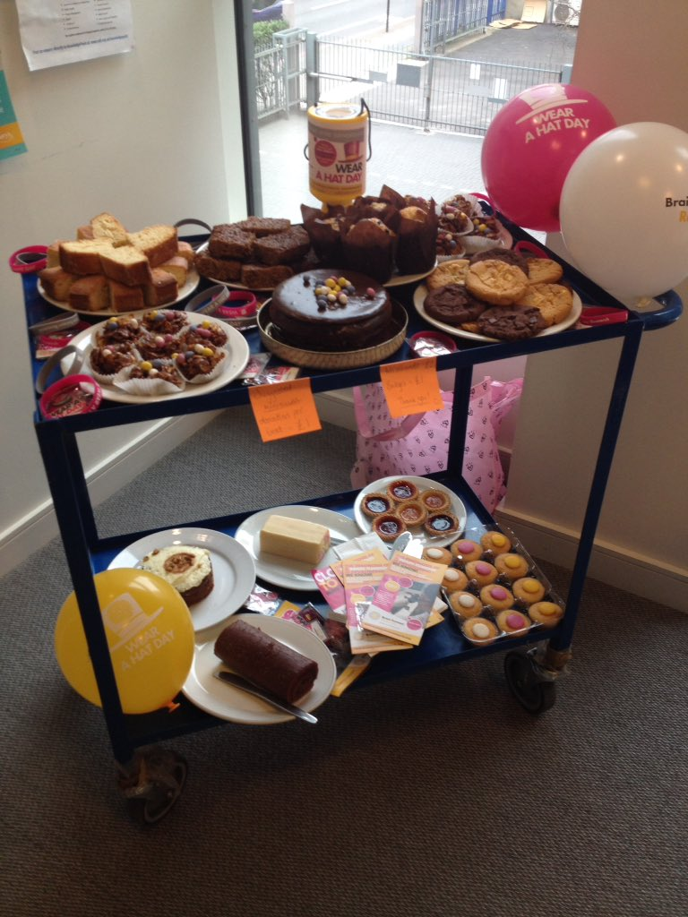'Wear a Hat Day' for @braintumourrsch ! So.much.cake. #HATTASTIC https://t.co/59UBN6bH2i