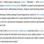 "RELEASE: CIA Vault 7 part 3 ""Marble"" https://t.co/M5NBFlXRu4 #Vault7"