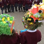 Year 1 Easter Bonnet Parade lots of fantastic hats.  Thank you for all your donations for Bishop of Southwark Lent Call 2017 @SouthwarkCofE.