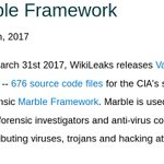 "RELEASE: CIA Vault 7 Part 3 ""Marble"" -- thousands of CIA viruses and hacking attacks could now be attributed https://t.co/MfNtlwEoZS #Vault7"