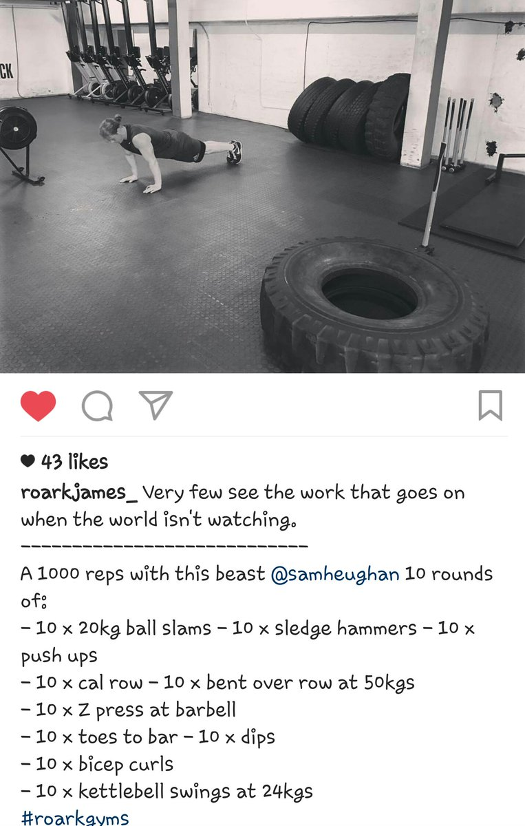 glenna fitzgibbons bsmn twitter dedication inspiration determination just a few words to describe the work ethic of samheughan in life career via roarkgyms igpic com