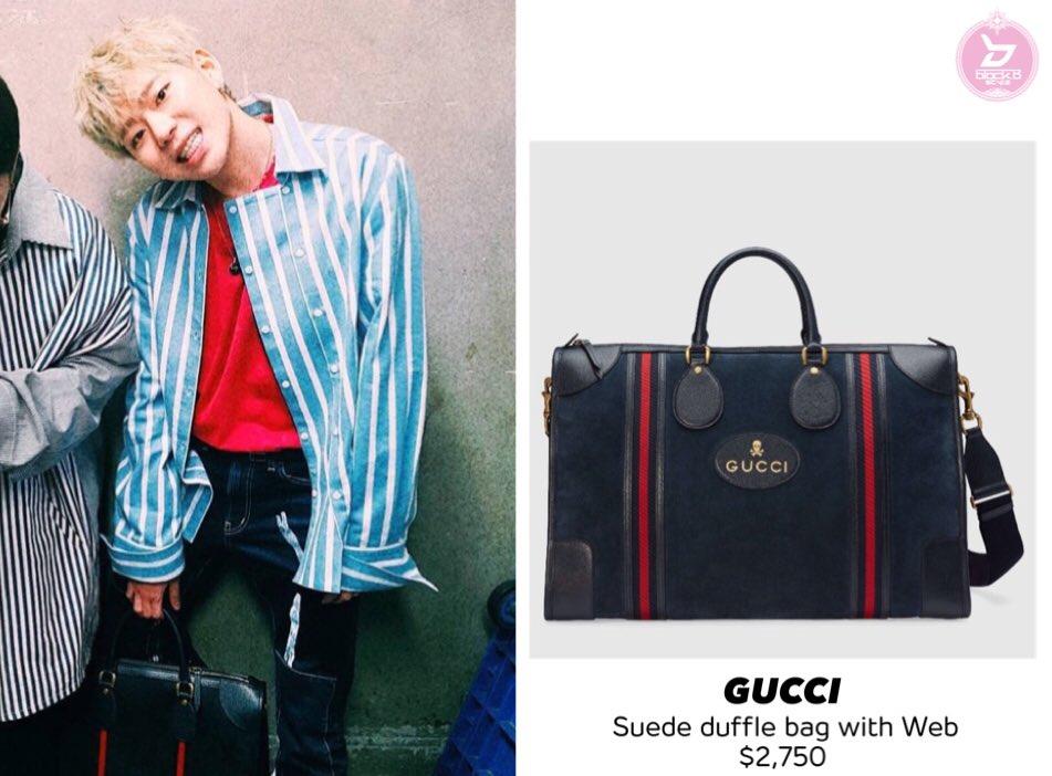 10815aa5af65 170331 ZICO Instagram GUCCI - Suede duffle bag with Web $2,750 #zico  #blockb #지코 #블락비 #ジコpic.twitter.com/kmyadmluoD