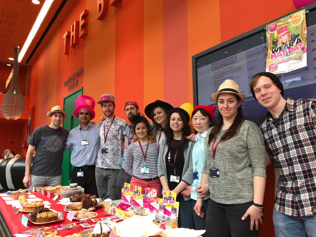 The Marino Lab #WearAHatDay @braintumourrsch @blizard_inst @QMULBartsTheLon https://t.co/2TexmTlQOf