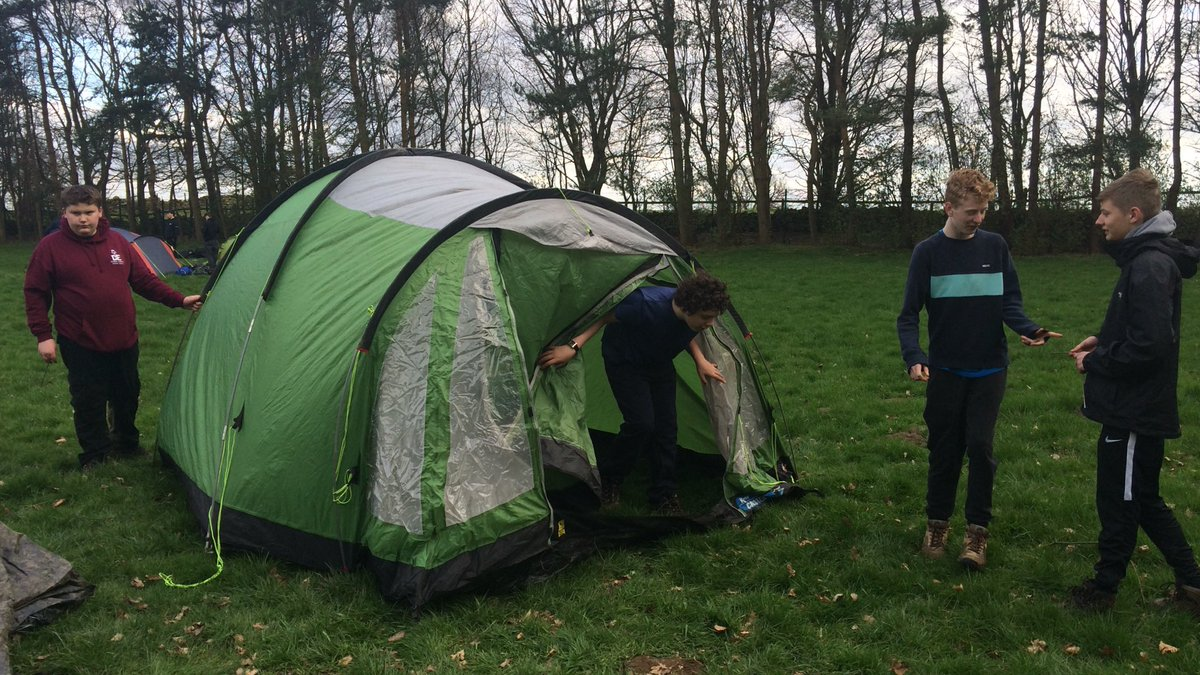 Rodillian DofE students pitching camp after a full days walking and a few wrong turns! #DofE #resilience