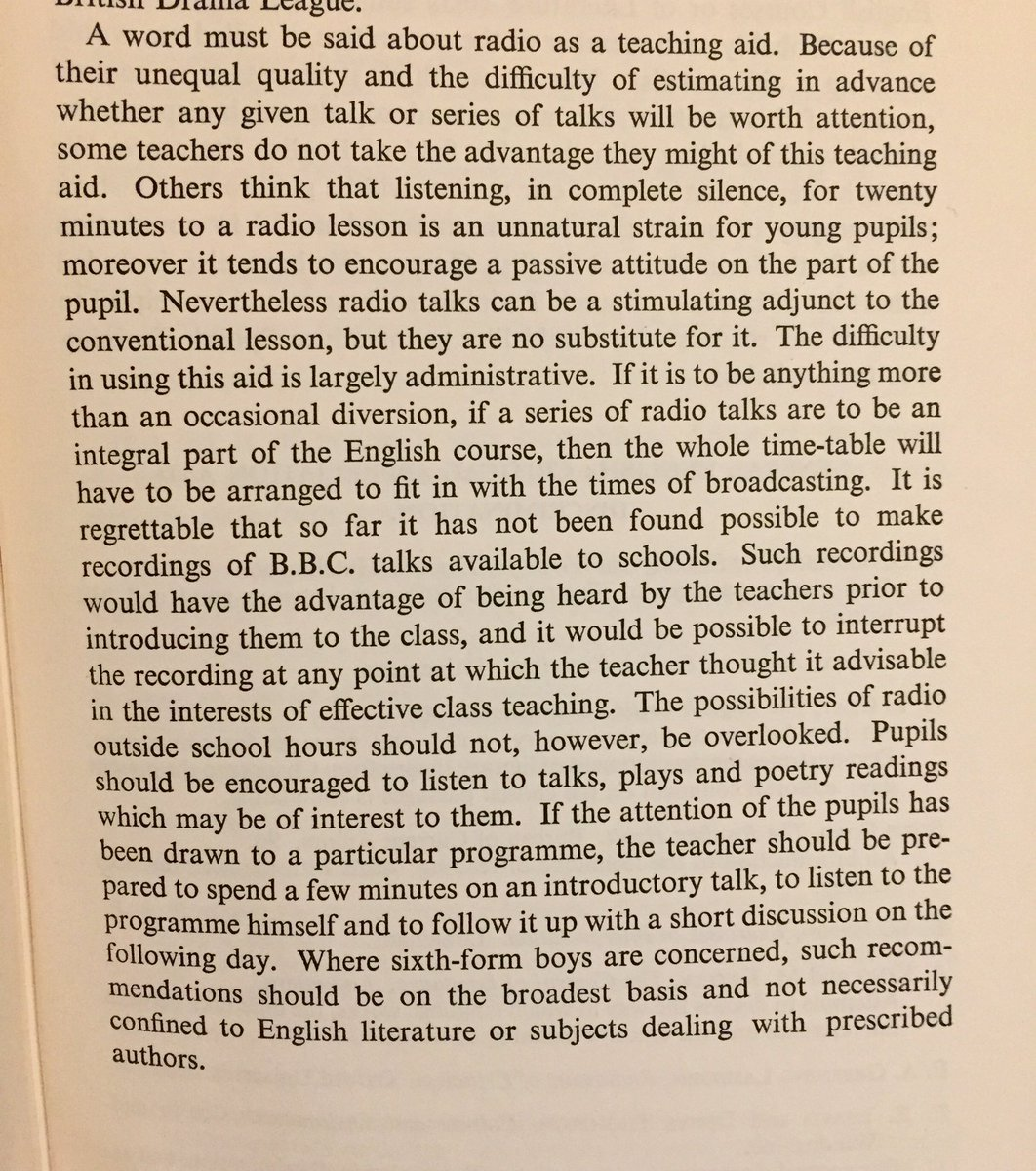 Instructions for teachers on the use of technology from 1952