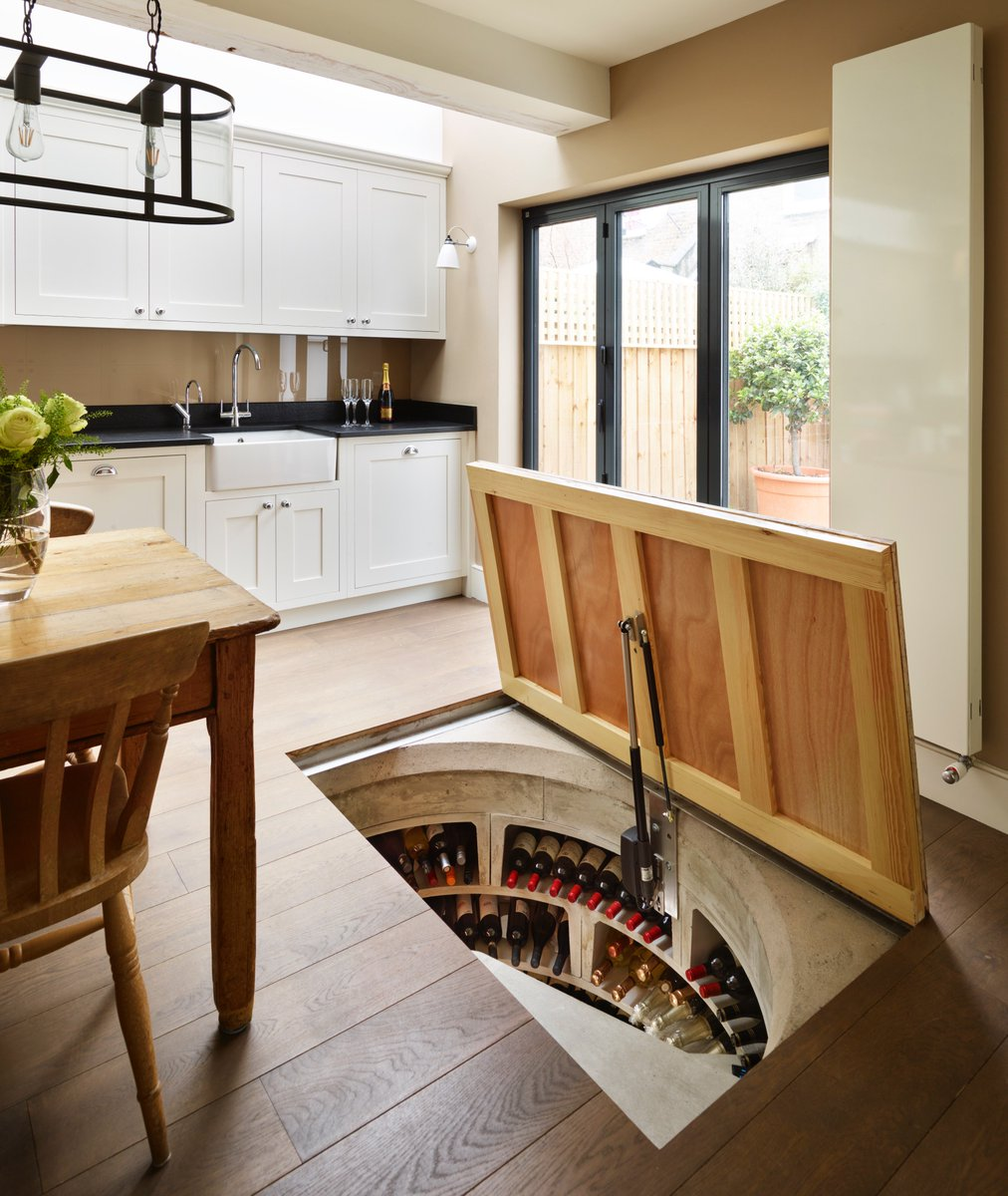 Wine Cellar In Kitchen Floor Spiral Cellars Uk Spiral Cellars Twitter