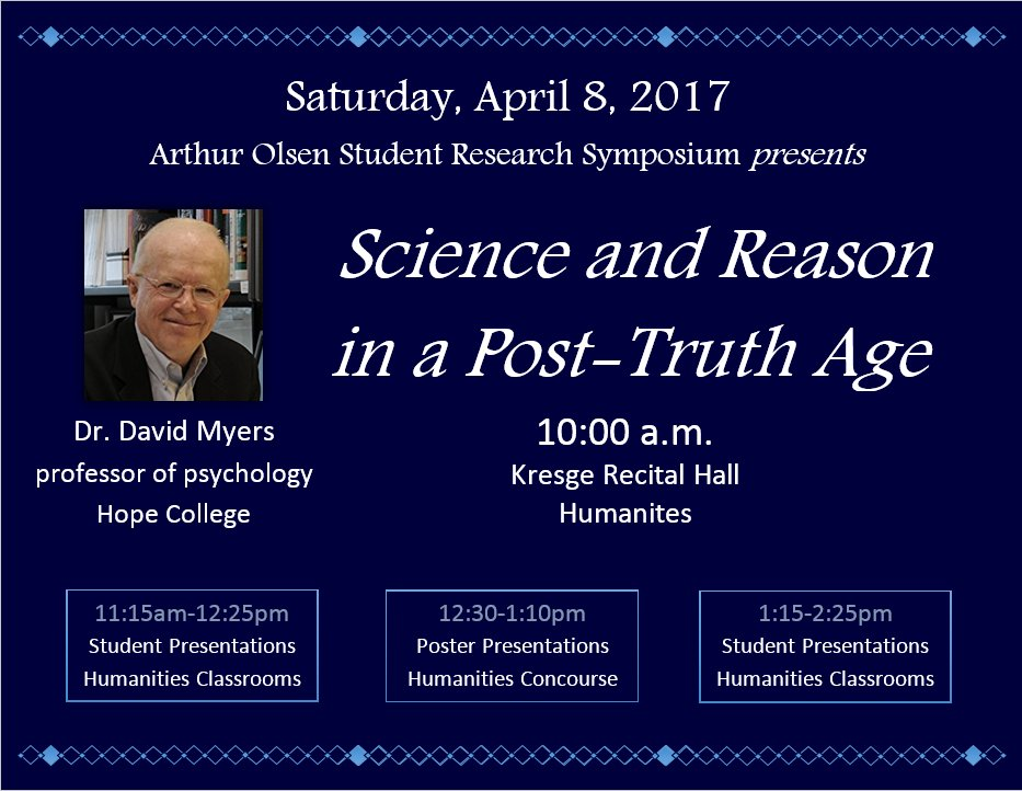 Celebrate Augustana student research and creativity at the Arthur Olsen Student Research Symposium, April 8! https://t.co/gWCoyHTAd6