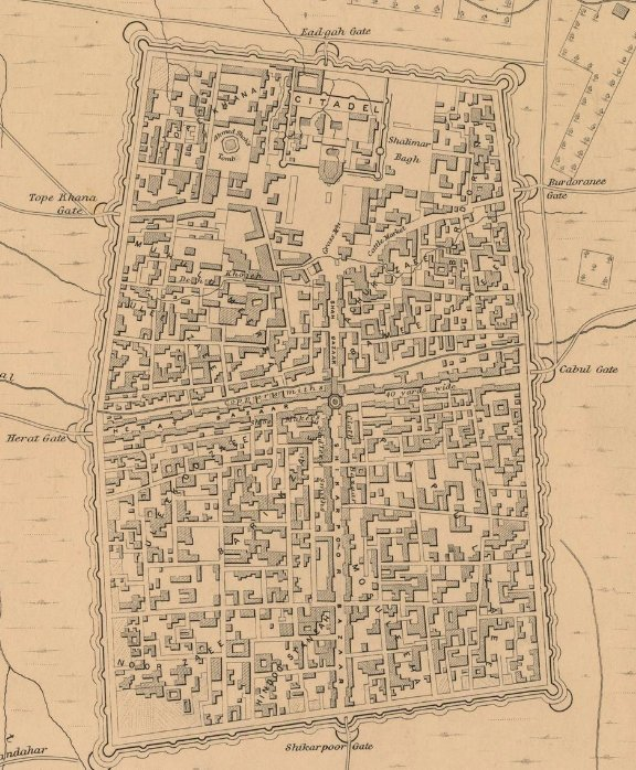 خريطة مفصلة من عام 1880 لقندهار، وهي مدينة يرجع تاريخها المسجل للقرن السادس قبل الميلاد على الأقل https://t.co/o99g44Z6ak https://t.co/zSCoLPU4SA