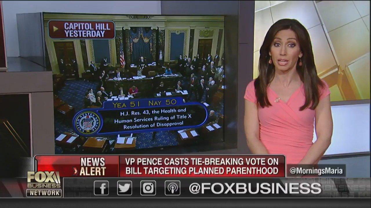 Congress OKs Planned Parenthood funding crackdown, as Pence breaks tie  https://t.co/NFJOH9Mj5t https://t.co/r0LL3DsiHN
