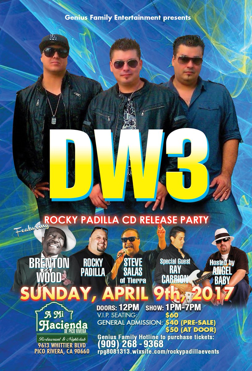 Rocky padilla rpg808 twitter dw3 sunday april 9th along with brenton wood from 1pm to 7pm in pico rivera for info call 909 268 9368 or httprockypadillaevents platinumwayz