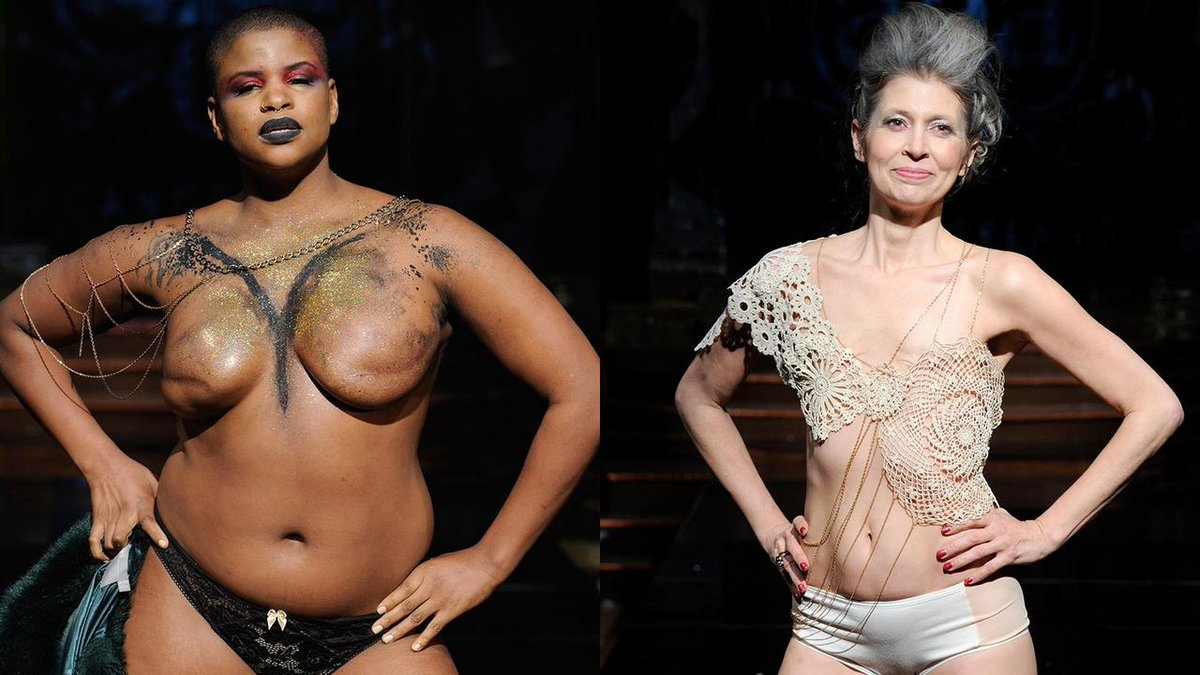 16 women walked topless and in lingerie in a very powerful NYFW show: