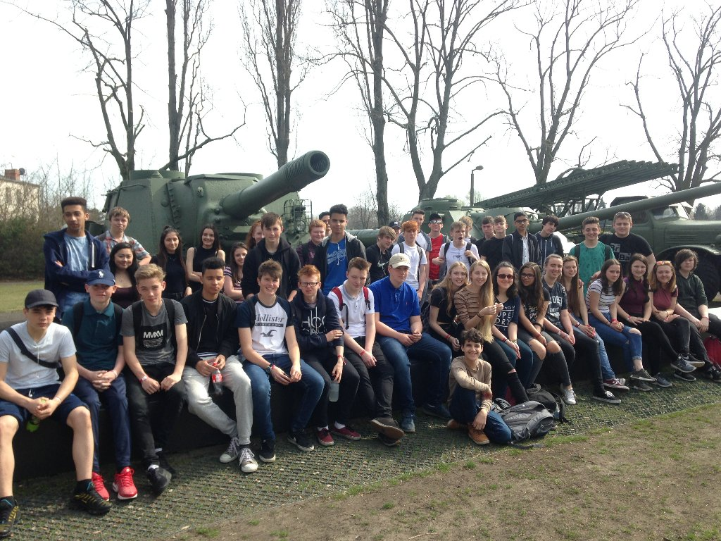 Getting ready to leave Berlin after a fantastic trip. Here we are at Karlshorst this morning.