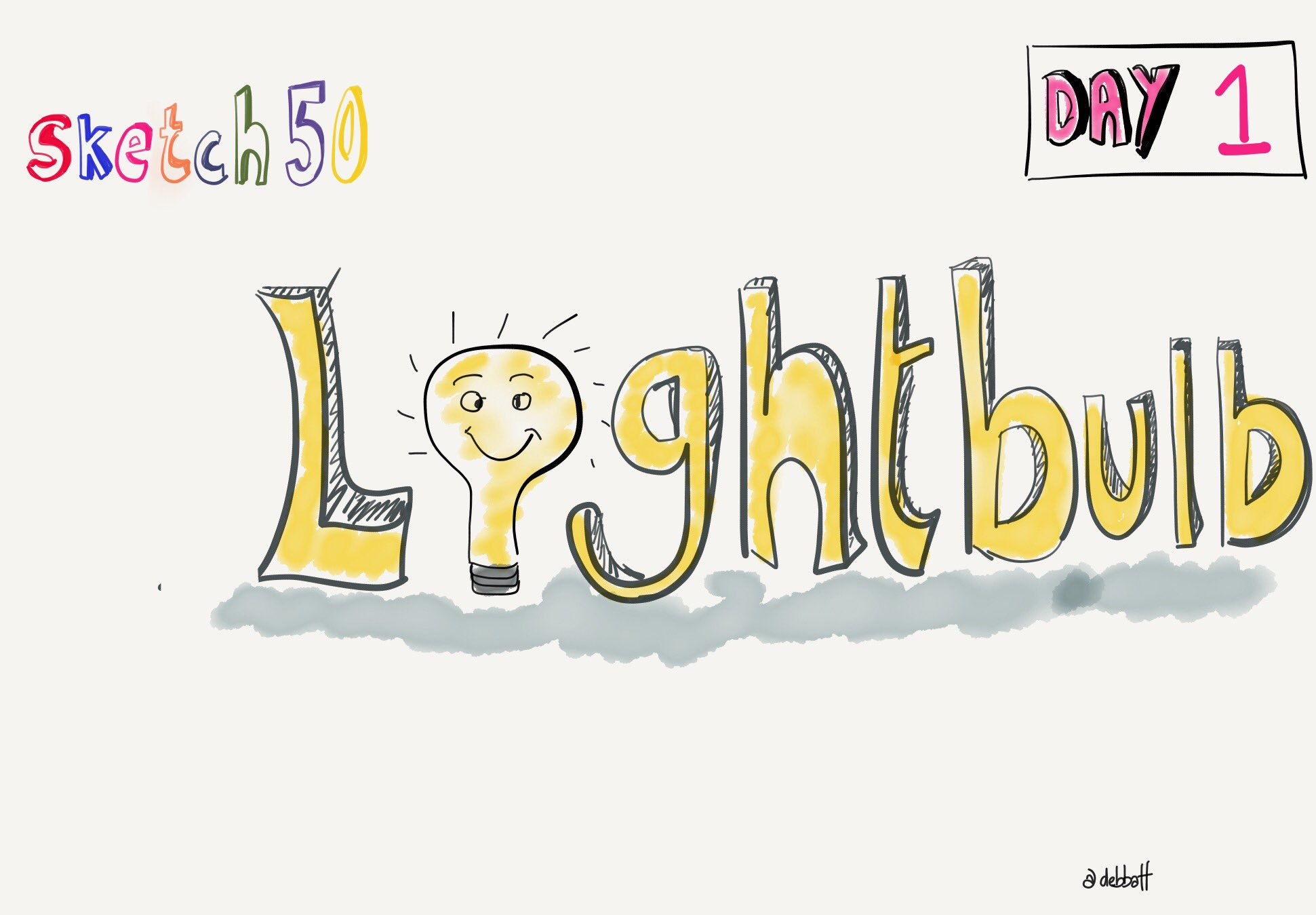 @sketch50 #sketchnotes #sketch50 a rather late lightbulb for Day 1 growth mindset ... https://t.co/CVyufVVVaV
