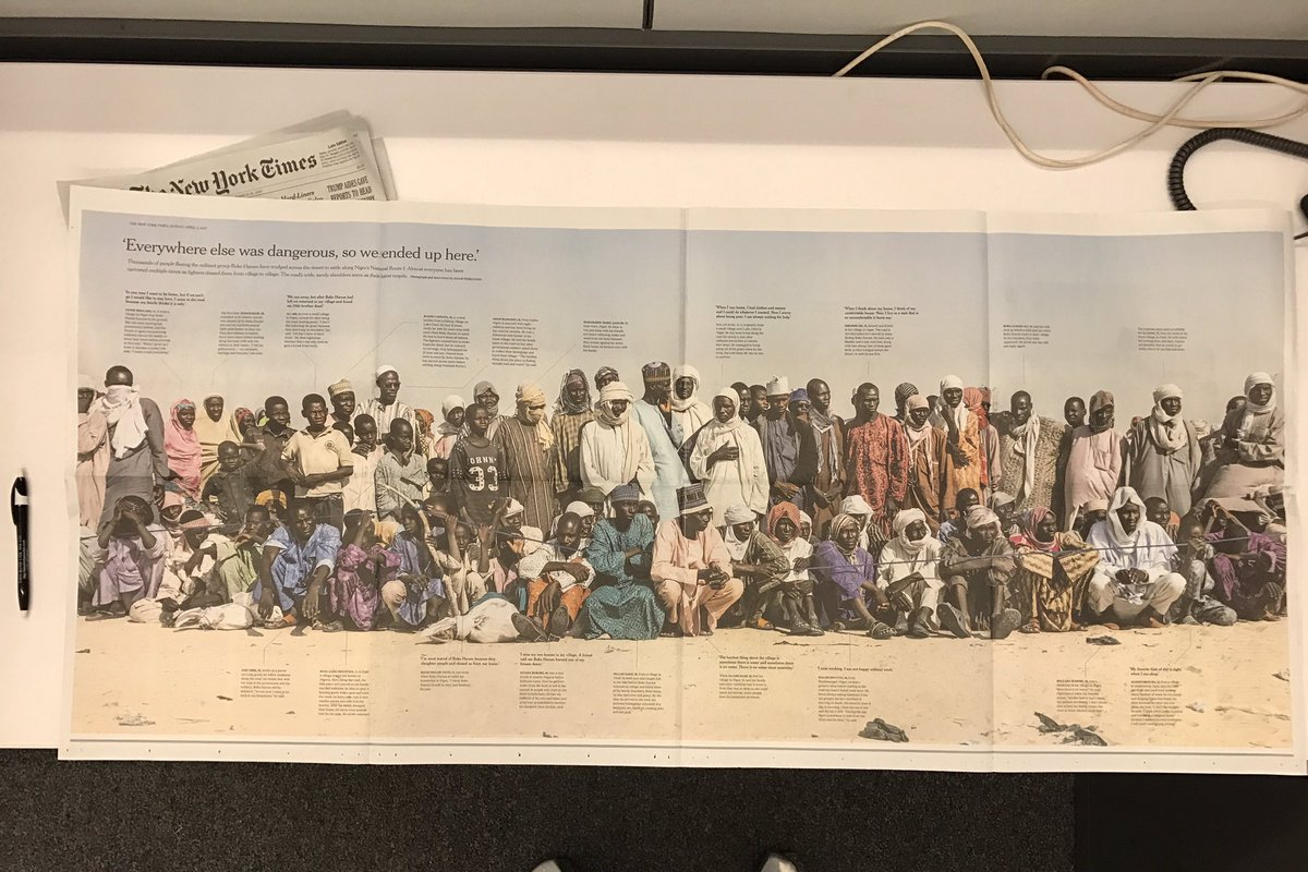 It might be the largest photo @nytimes has published: a 47x20 image of migrants stranded in Niger. Coming Sunday. https://t.co/fz1Wd6GFPq