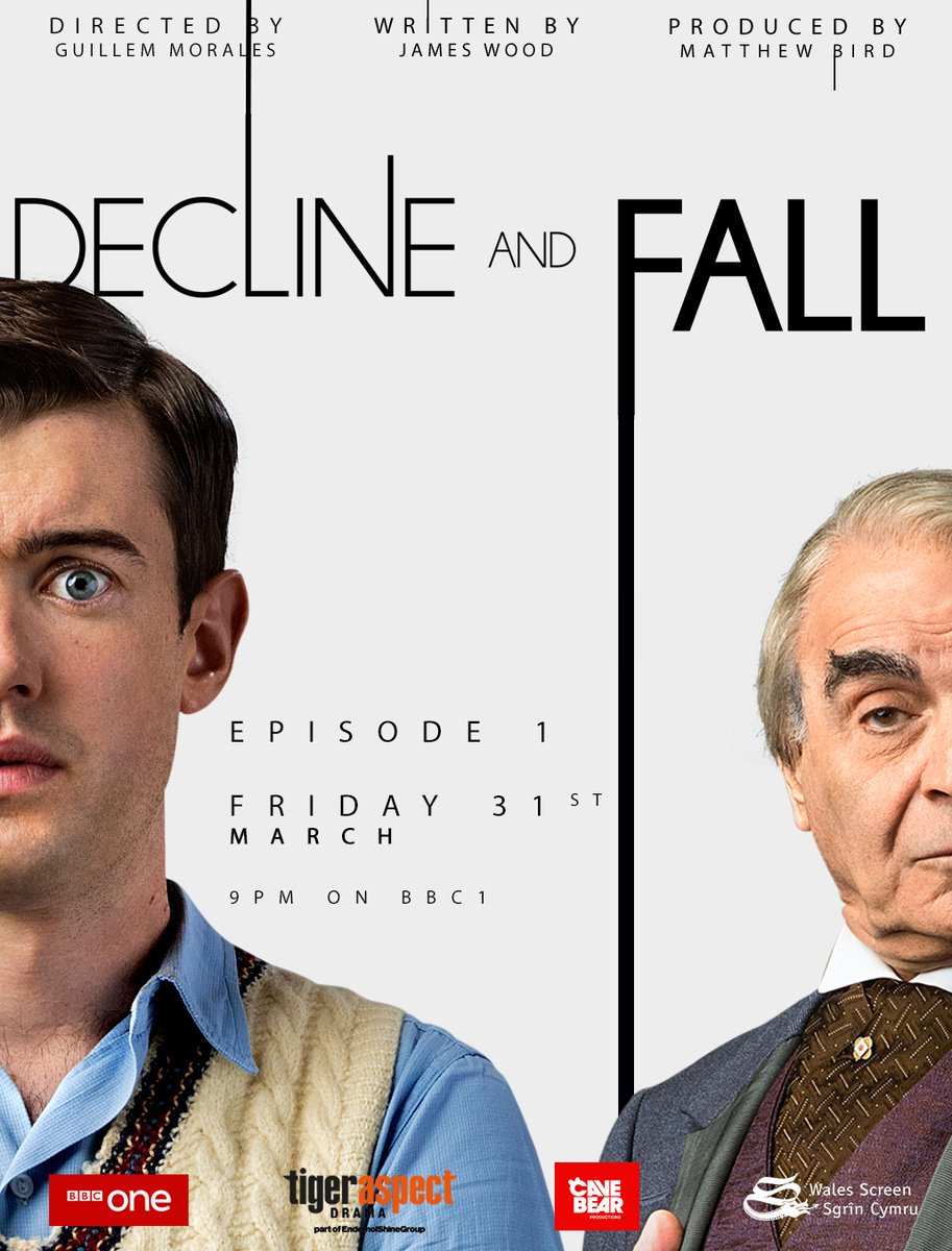 Only half an hour to go! Don't miss the first episode of #declineandfall tonight on @BBCOne at 9pm! https://t.co/4hNSzvYwbC
