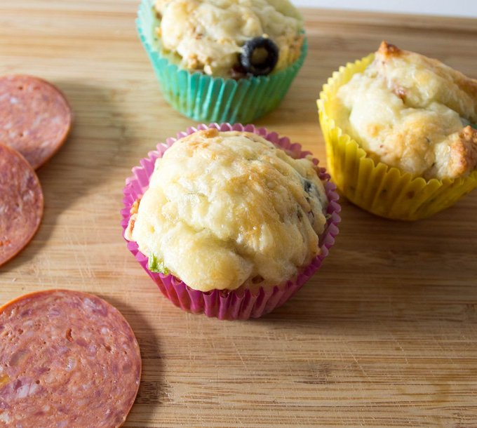 Amazing Pizza Muffins Recipe Your Family Will Devour- OurFamilyWorld
