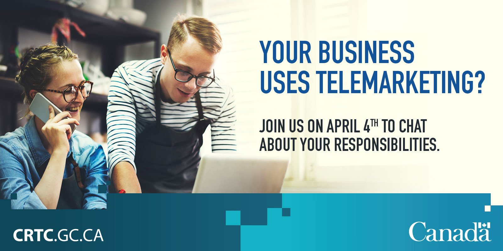Join our #SMEPME Twitter chat Apr. 4 at noon EDT with @CRTCeng on #telemarketing rules for #smallbiz! https://t.co/m8dgRHLrQ0 https://t.co/dHopa7YwaY