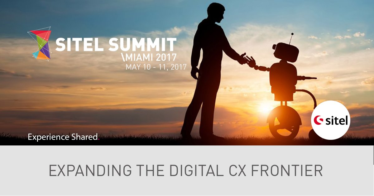 Sitel Summit 2017 cracks the code of #digital #CX, May 10-11 in Miami! Check the agenda here: https://goo.gl/eh8LZD