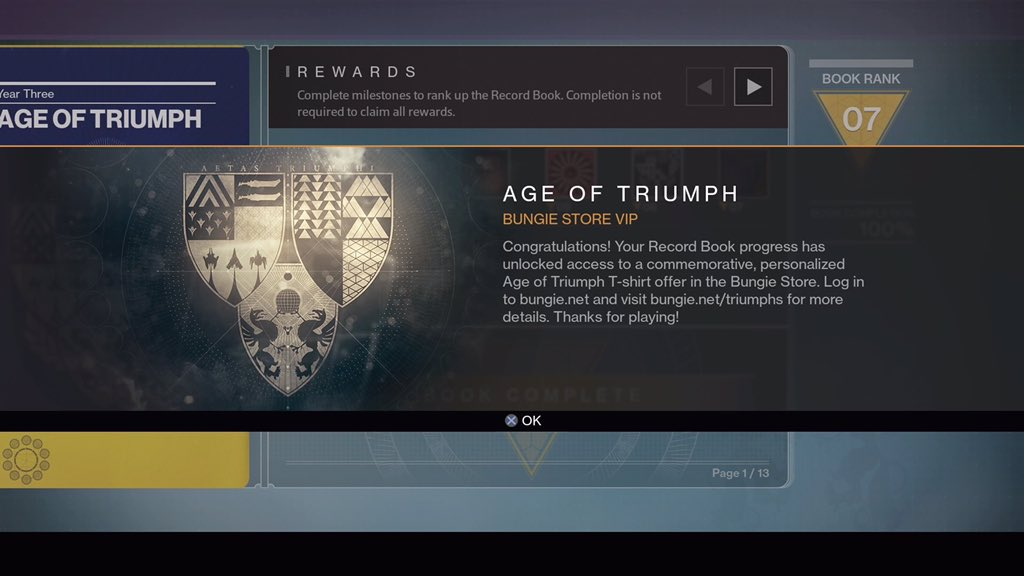 """bungie on twitter: """"anyone else 100% for age of triumph? what"""