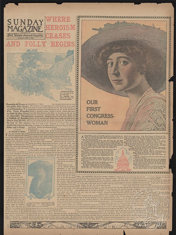 It's 1916 & Jeannette Rankin's election just made front page news.  #Rankin100 #HouseCollection #10in10 https://t.co/E8TDFhpftM https://t.co/riM2RF05gI