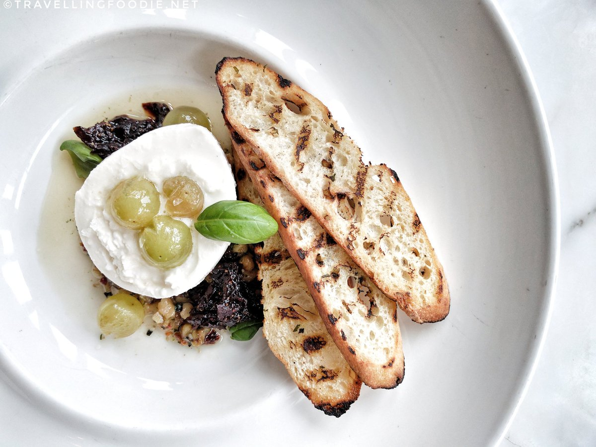 Burrata at Chef Mark McEwan's Fabbrica in Toronto
