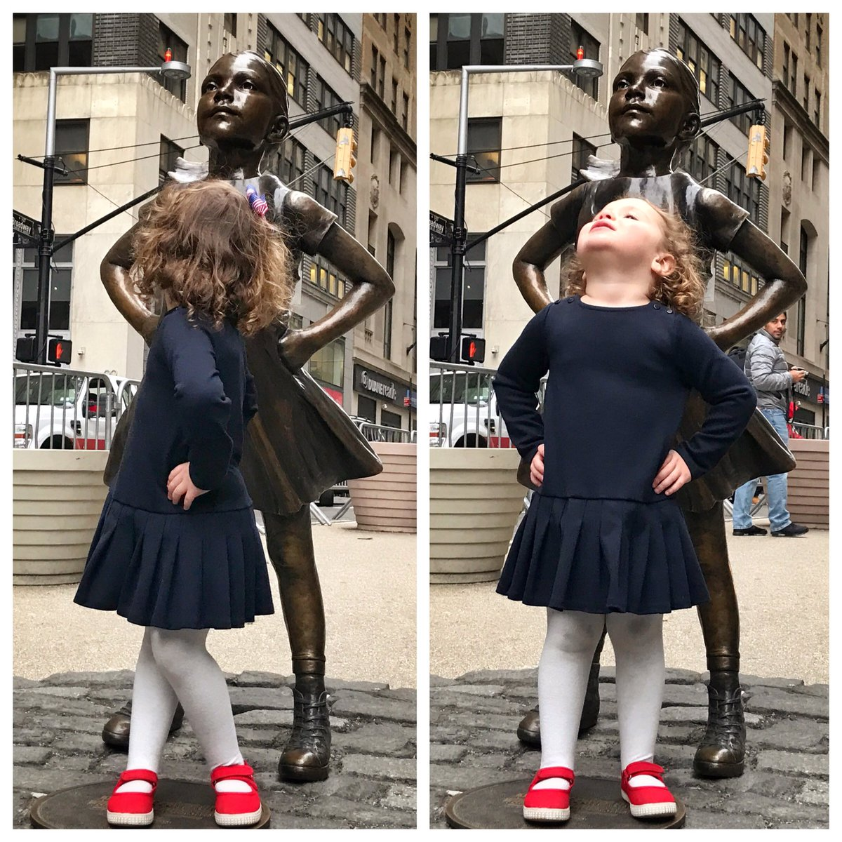 As seen at the Fearless Girl statue... https://t.co/OiX7uHSQo4